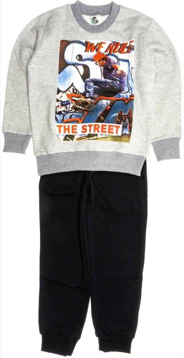 Go Jo παιδικό σετ φόρμα μπλούζα-παντελόνι «We Rule»