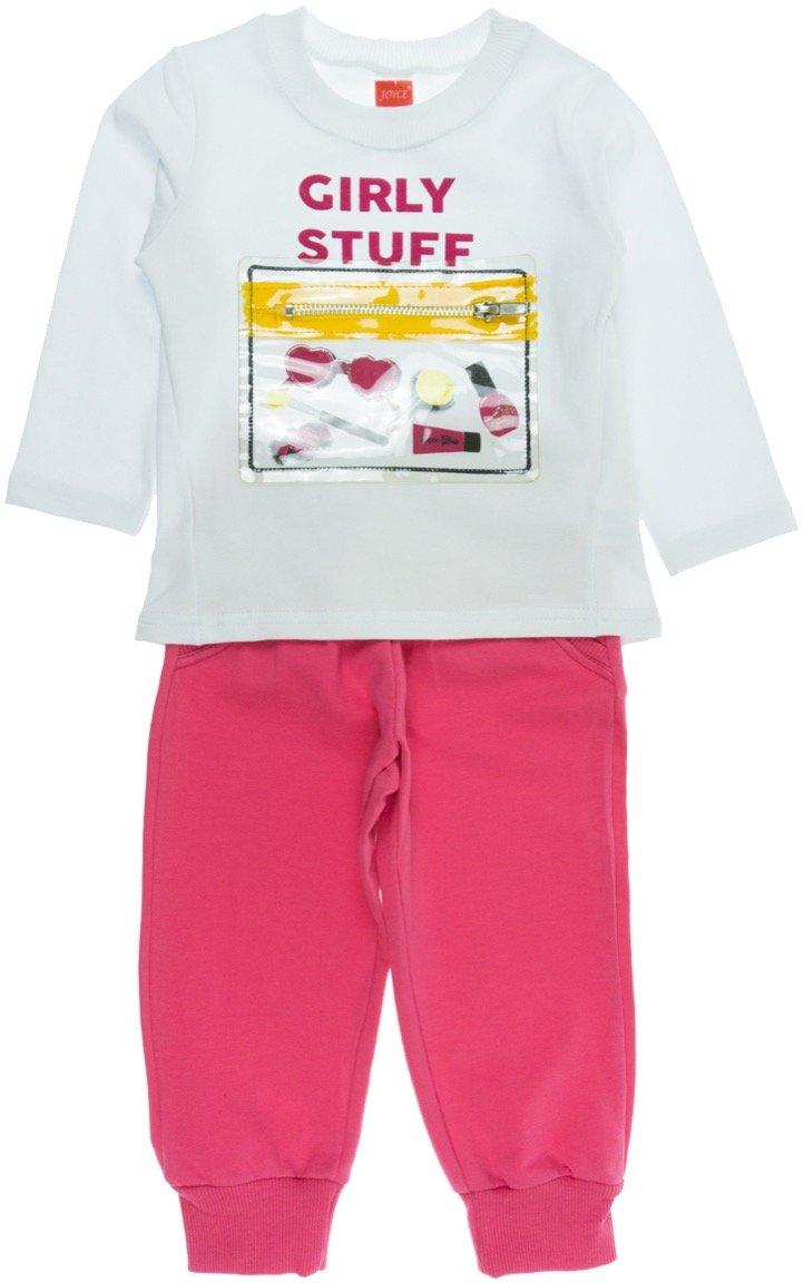 "Joyce βρεφικό εποχιακό σετ φόρμα μπλούζα-παντελόνι ""White Girly"""