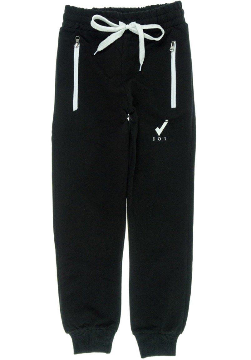 Joi παιδικό εποχιακό παντελόνι φόρμας «Black Spring Zipper»