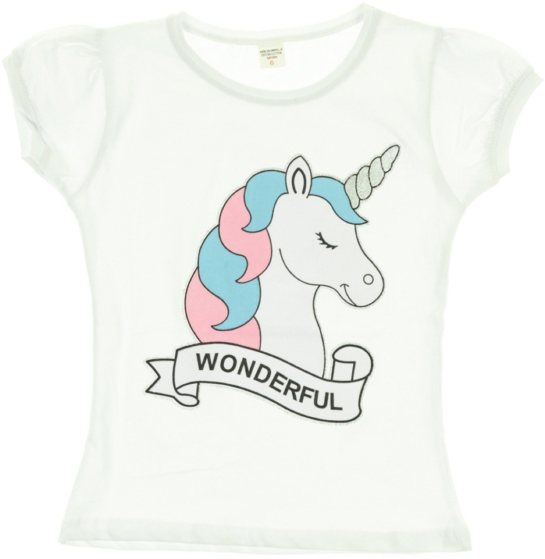 Ecrin παιδική μπλούζα «White Wonderful Unicorn»