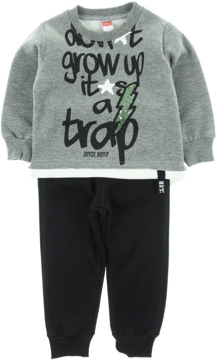 Joyce παιδικό σετ φόρμα μπλούζα-παντελόνι «Grow Up»