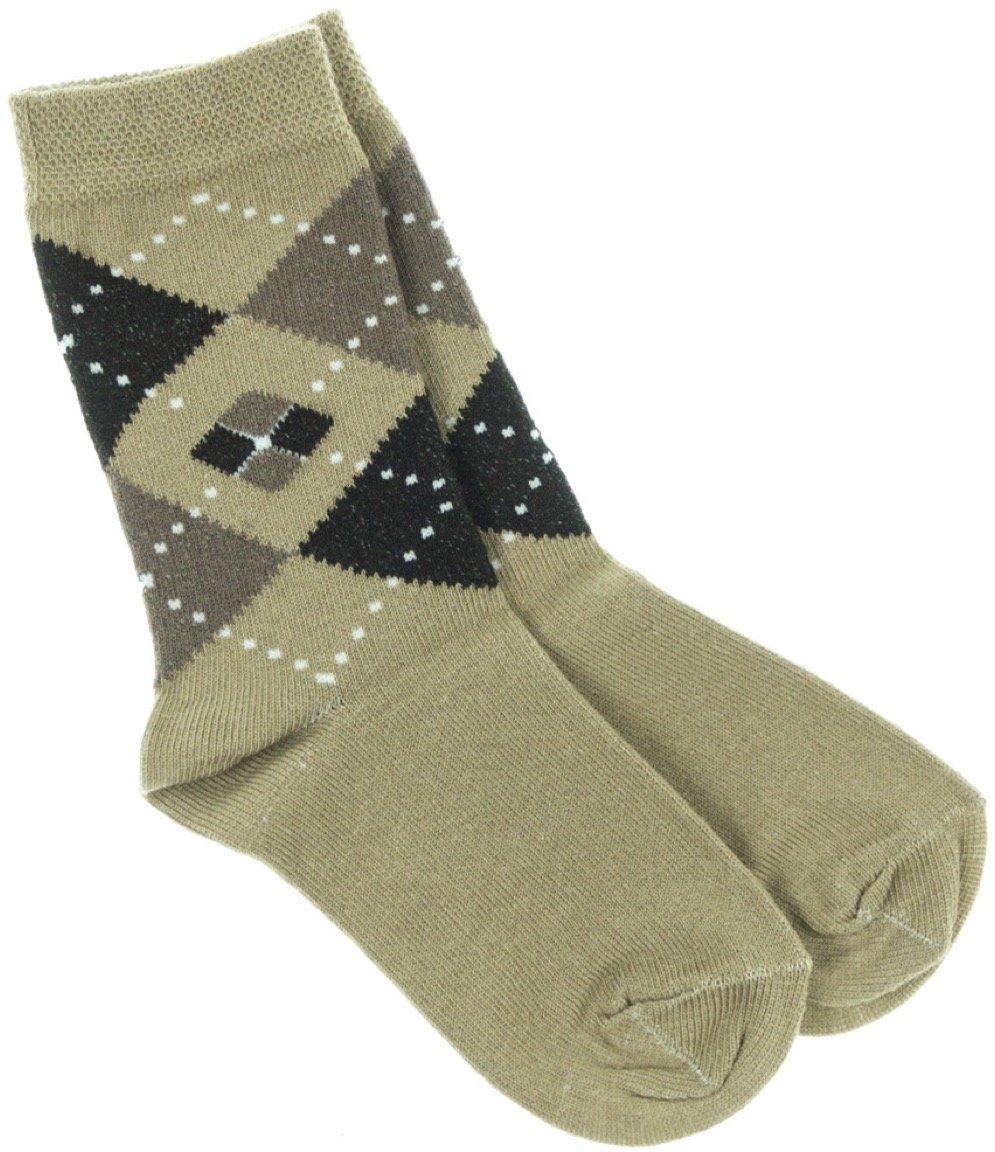 Lateks παιδικές κάλτσες «Brown Checkered»