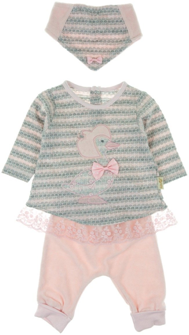 Babyim βρεφικό σετ μπλούζα-παντελόνι-φουλάρι «Duck Tales»