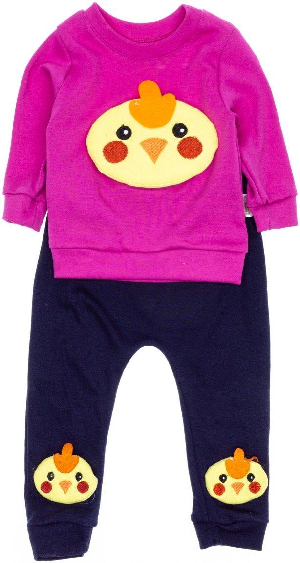 Eren βρεφικό σετ μπλούζα-παντελόνι «Cute Chicken»