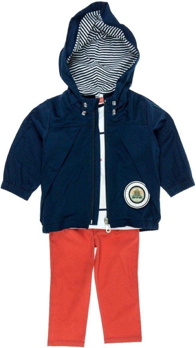 Joyce παιδικό σετ μπουφάν-μπλούζα-παντελόνι «Blue Sailor»