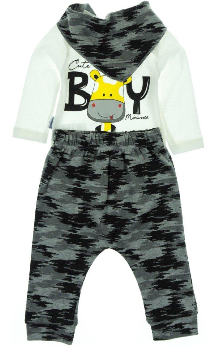 Miniworld βρεφικό εποχιακό σετ κορμάκι-παντελόνι-φουλάρι «Be You»
