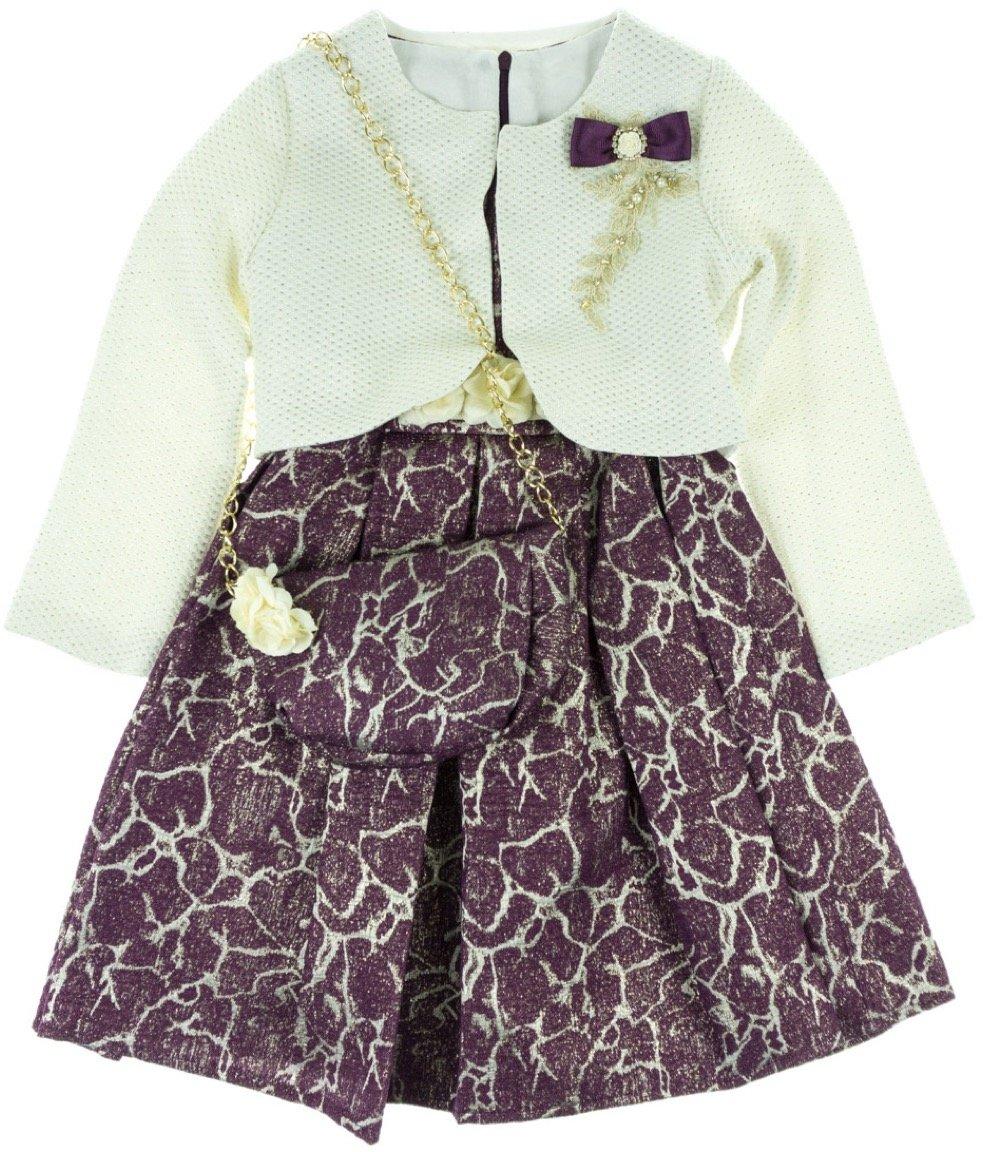 Seker παιδικό αμπιγιέ φόρεμα & ζακέτα μπολερό «The Shiny»
