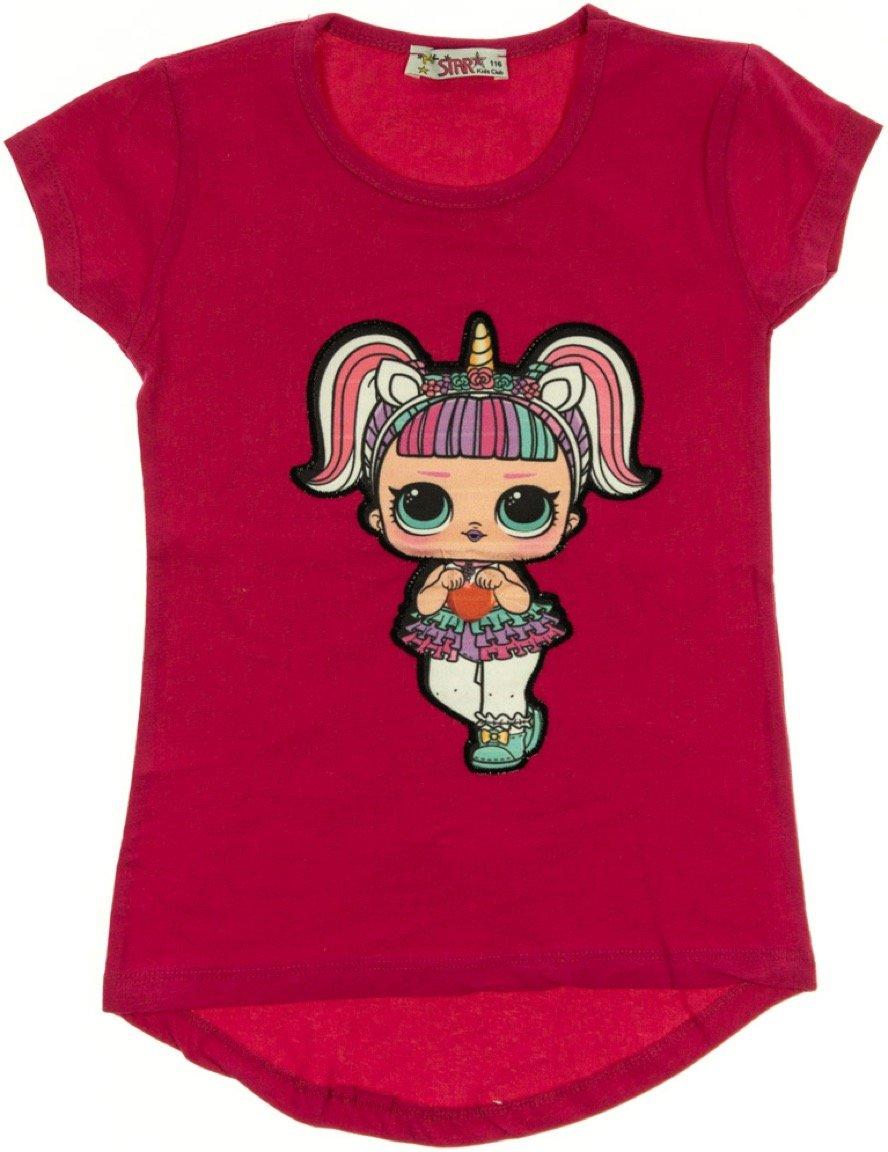 Mix Star παιδική μπλούζα με φωτάκια «Fuchsia Missy»