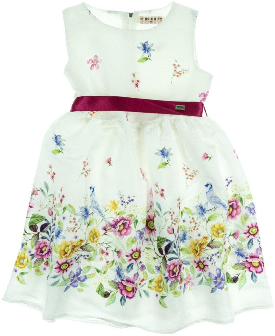 Εβίτα παιδικό αμπιγιέ φόρεμα «Birds and Flowers»