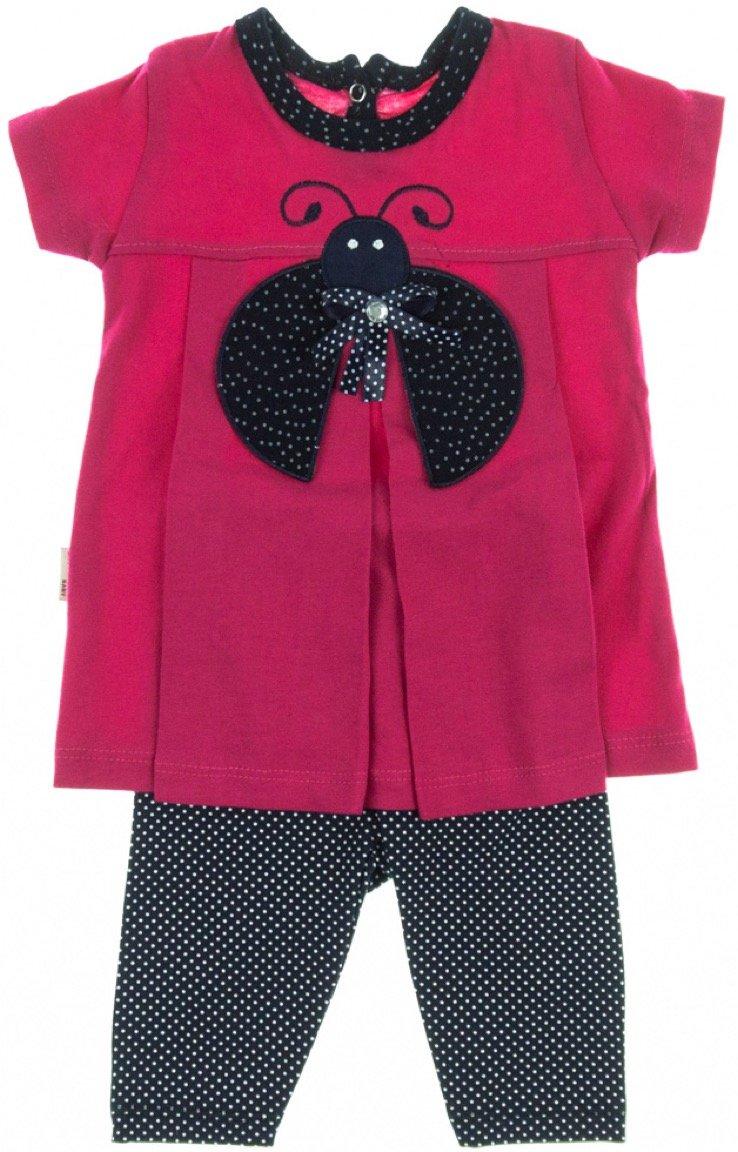 Lindax βρεφικό σετ μπλούζα-παντελόνι κολάν κάπρι «Ladybug»