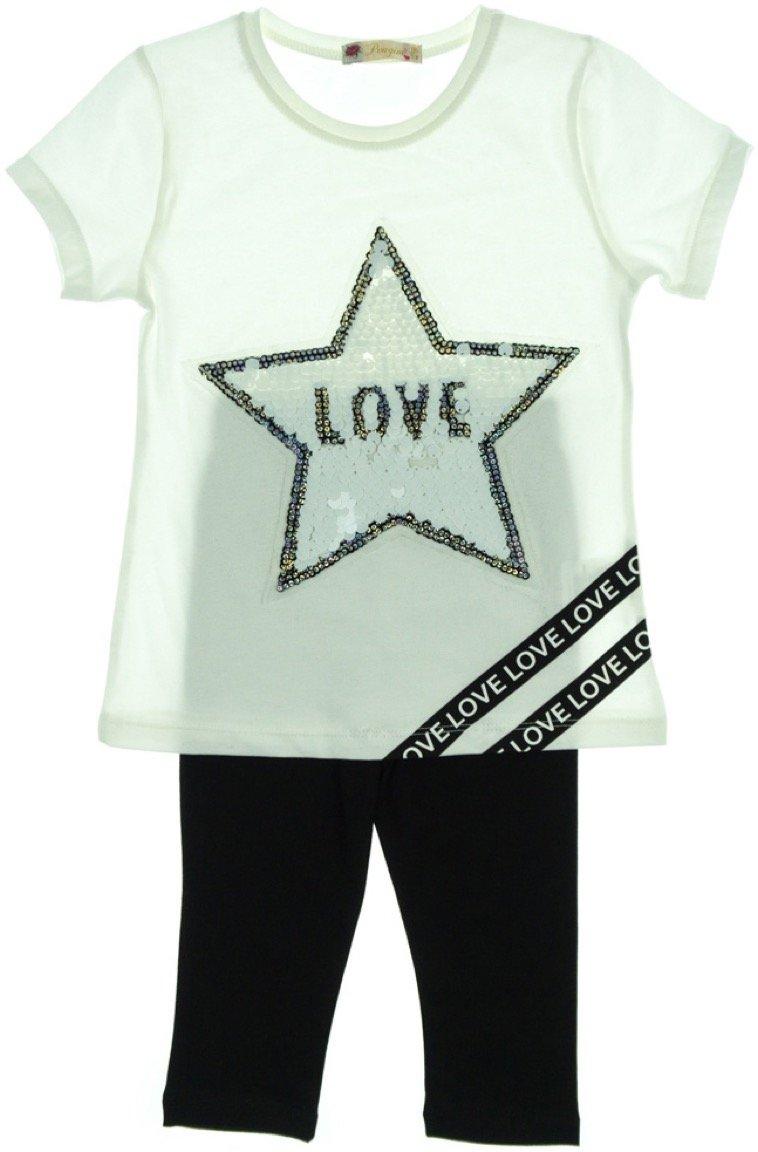 Pengim παιδικό σετ μπλούζα-παντελόνι κολάν κάπρι «Love Star»