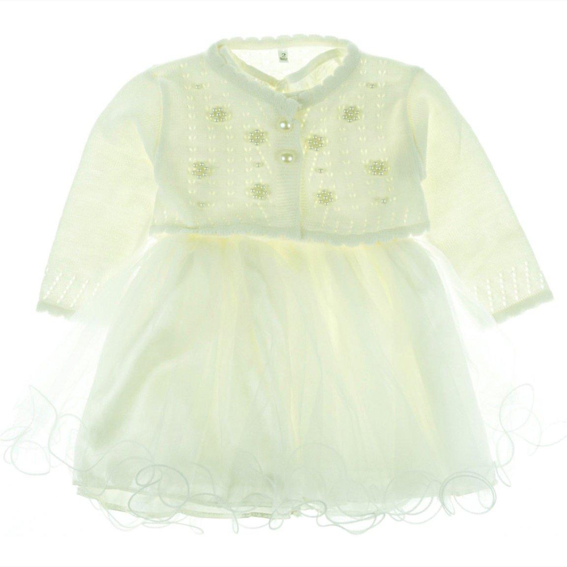 Bebellion παιδικό αμπιγιέ φόρεμα & ζακέτα μπολερό «Flower»