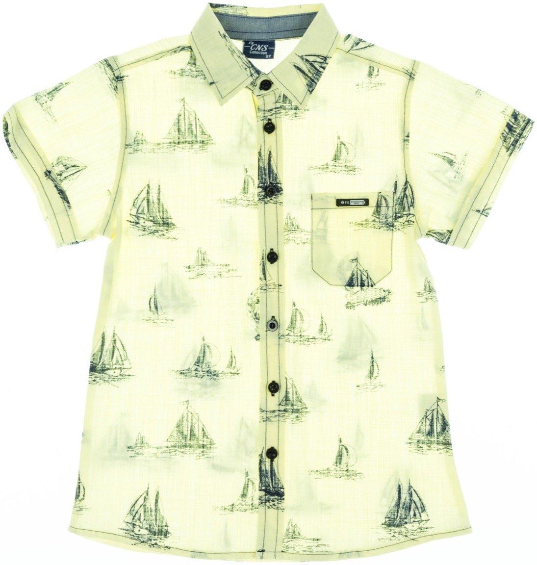 "CNS παιδικό πουκάμισο ""Yellow Sailing"""