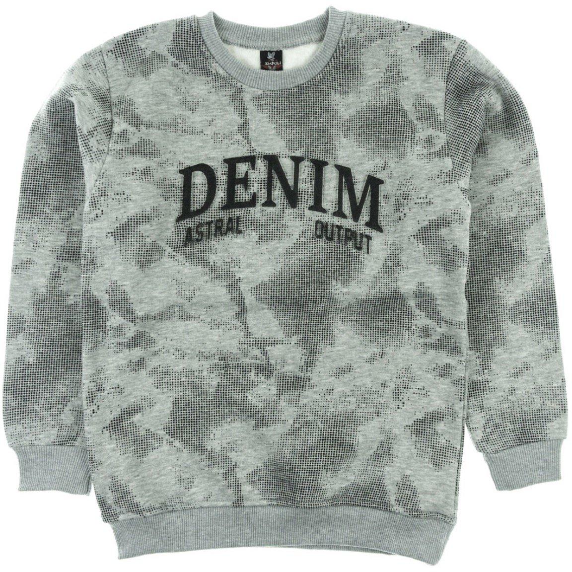 Empoli παιδική μπλούζα φούτερ «Denim Astral»
