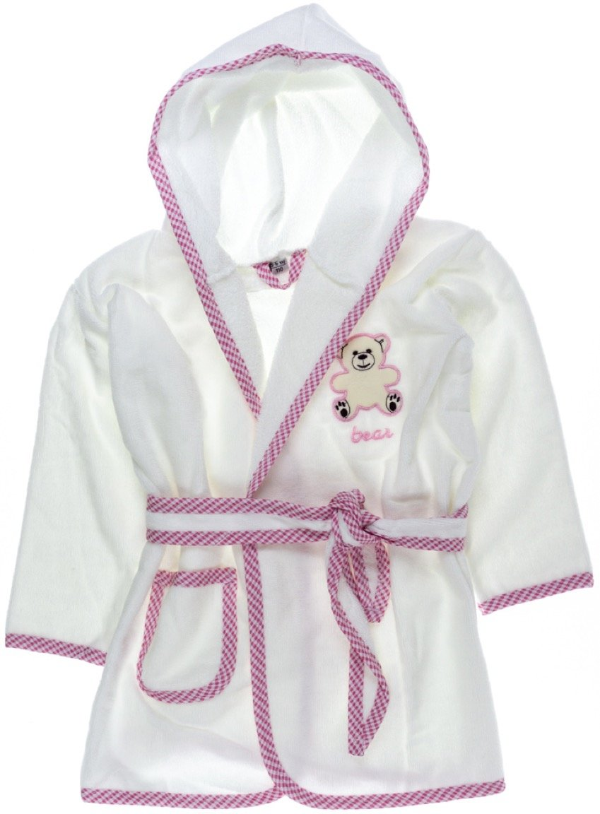 ΑΖ παιδικό μπουρνούζι «Pink Teddy»