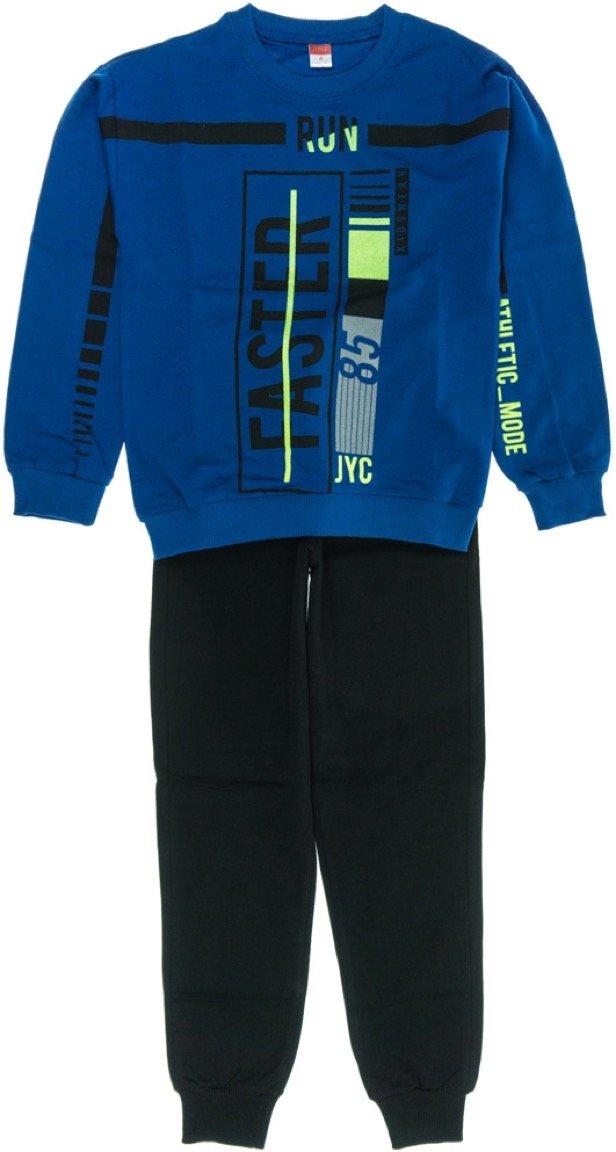 Joyce παιδικό εποχιακό σετ φόρμα μπλούζα-παντελόνι «Blue Run Faster»