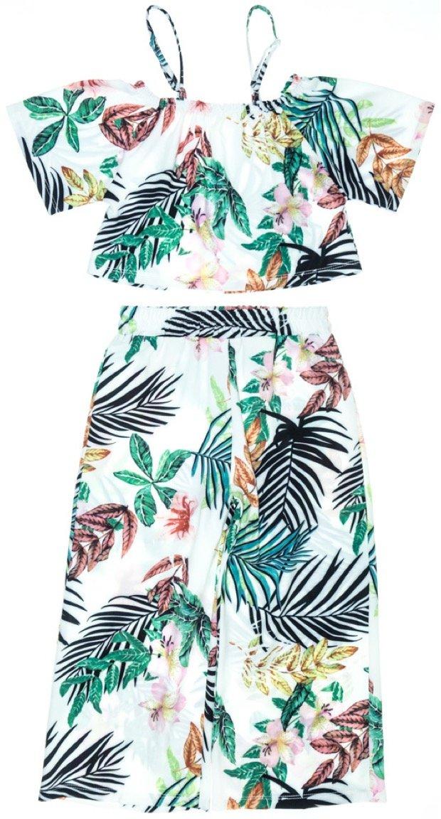 Εβίτα παιδικό σετ μπουστάκι-παντελόνα «Flower Paradise»
