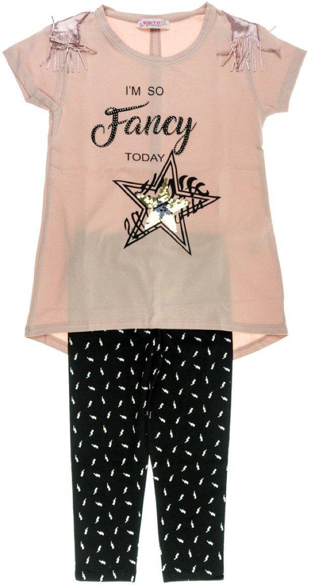 Εβίτα παιδικό σετ μπλούζα-παντελόνι κολάν-κάπρι «Fancy»