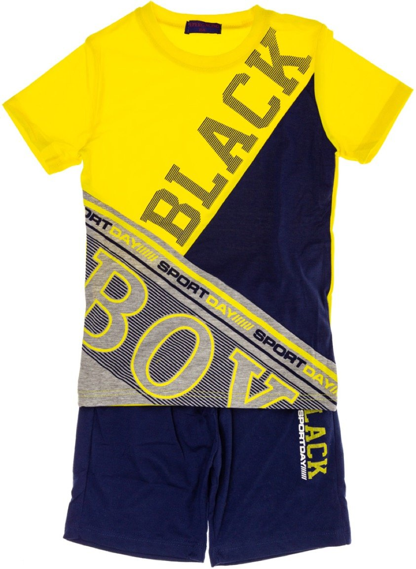 Peperoncino παιδικό σετ μπλούζα (στενή γραμμή)-βερμούδα «My Boy»