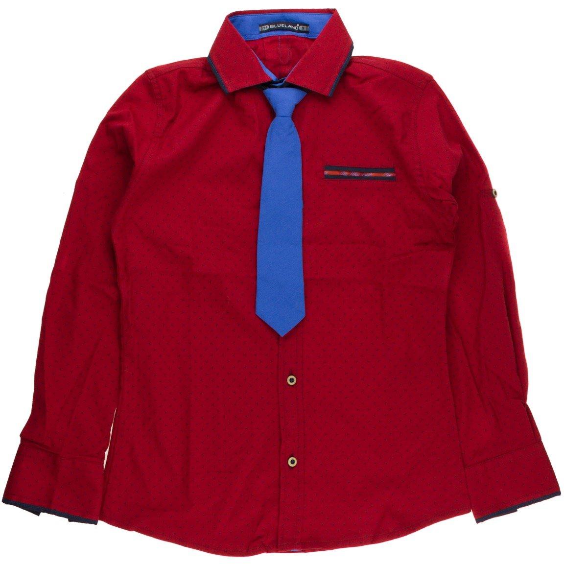 85d4d29baf6 Blue Land παιδικό πουκάμισο και γραβάτα