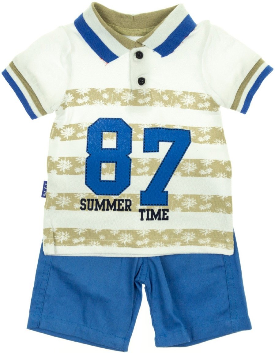 R.T.M. παιδικό σετ πουκάμισο-παντελόνι σορτς «The Summer Time»