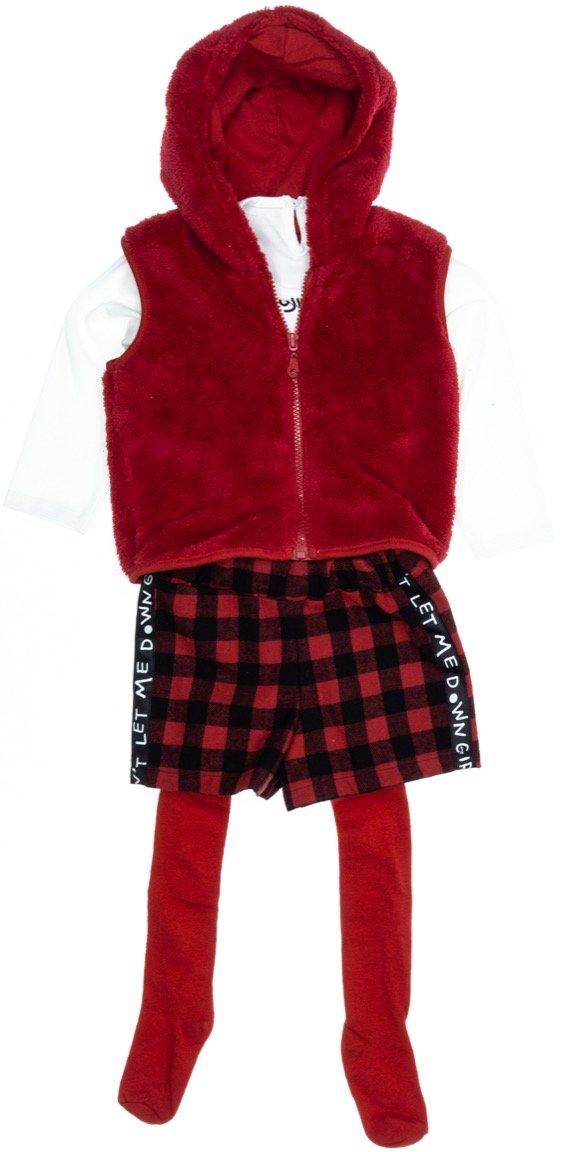 Εβίτα παιδικό σετ ζακέτα-μπλούζα-σορτς-καλσόν «Glitter»