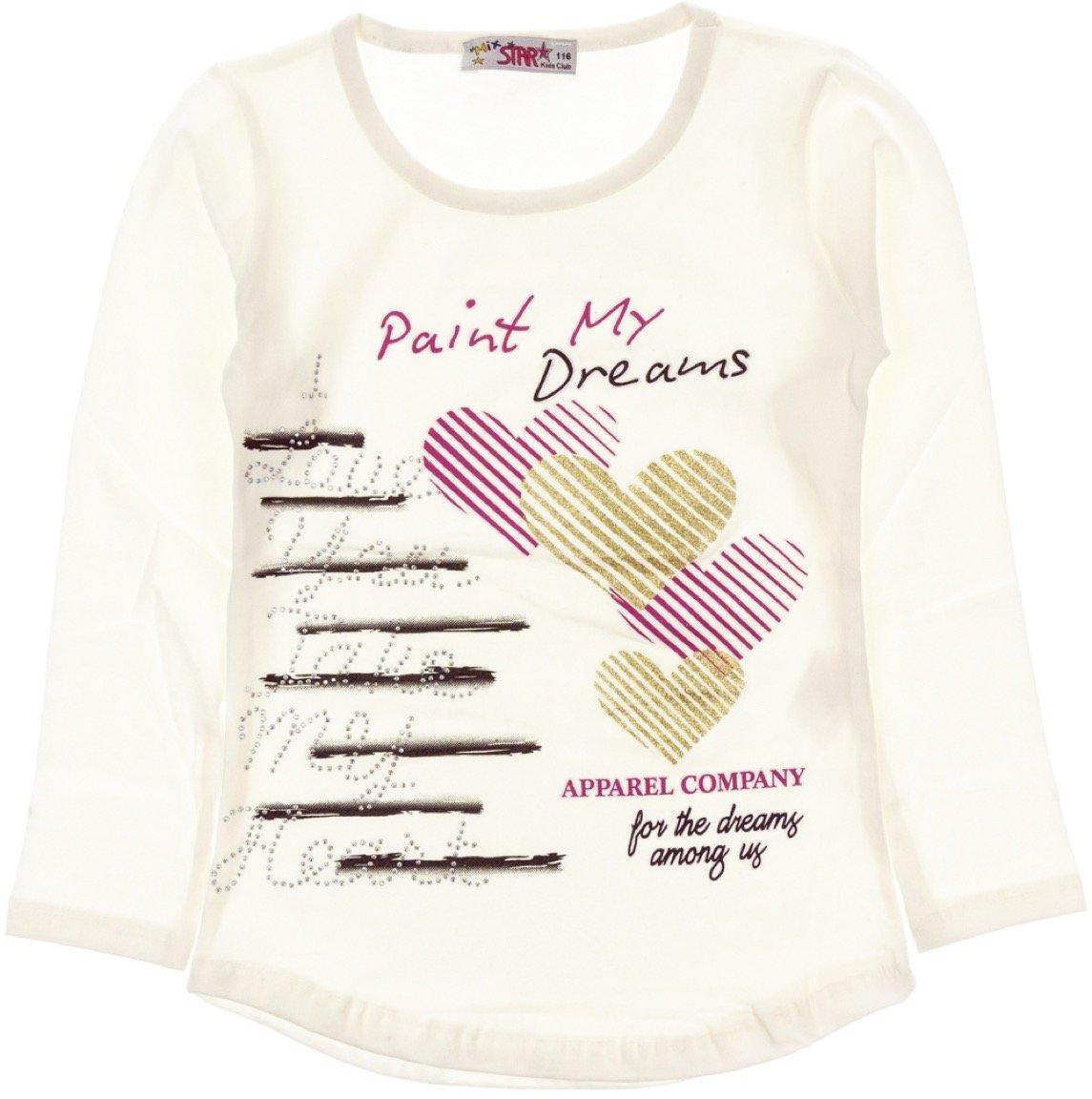 Mix Star παιδική εποχιακή μπλούζα «Paint My Dreams Ecru»