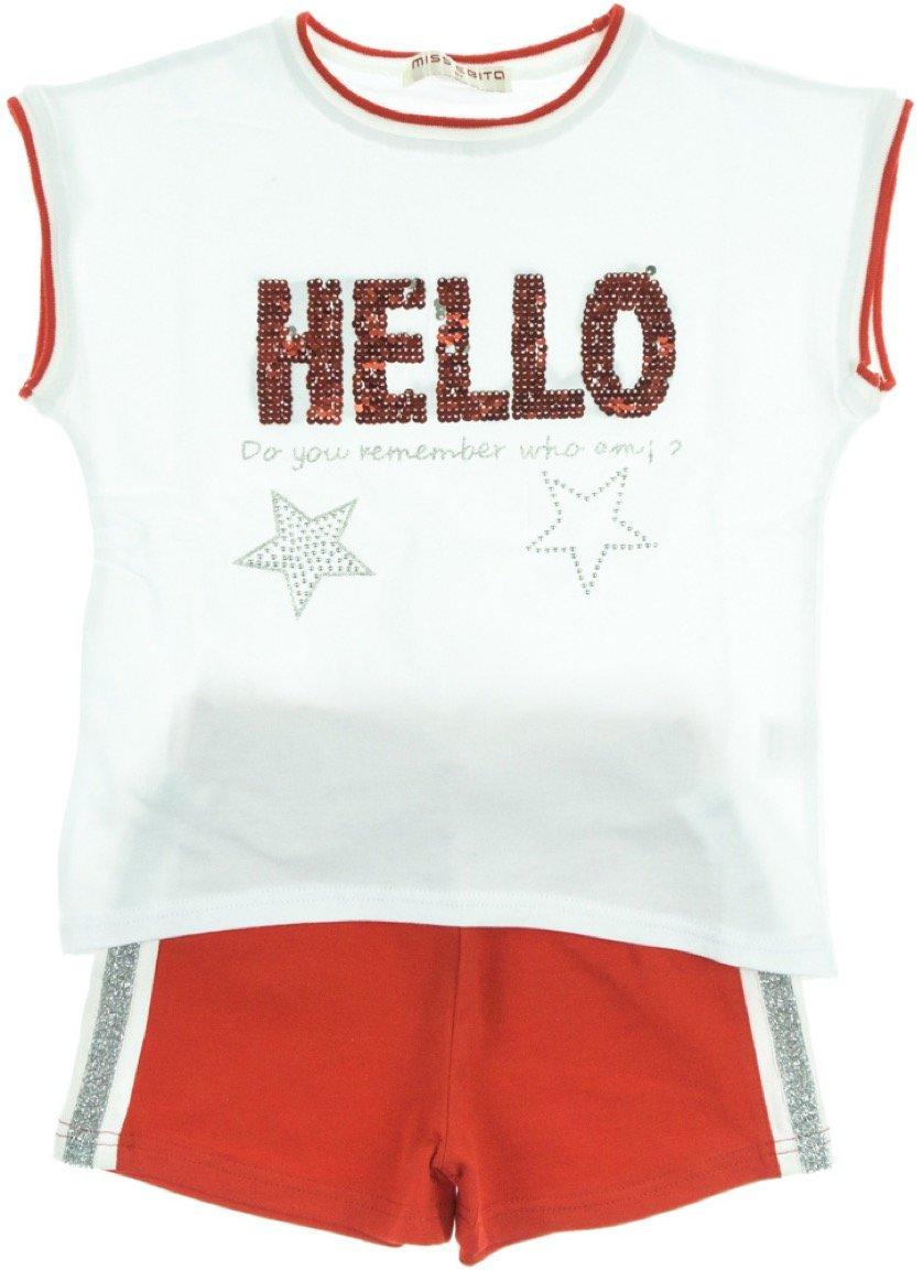 Εβίτα παιδικό σετ μπλούζα-παντελόνι σορτς «Red Hello»