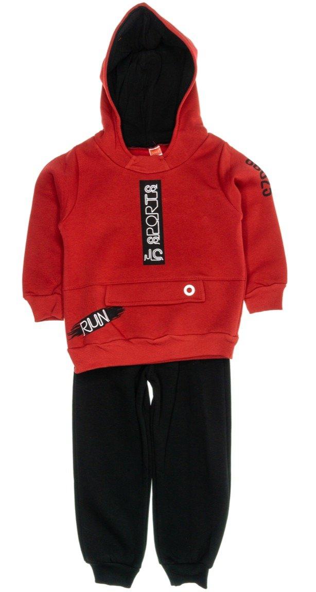 Joyce παιδικό σετ φόρμα μπλούζα-παντελόνι «Red Sports»