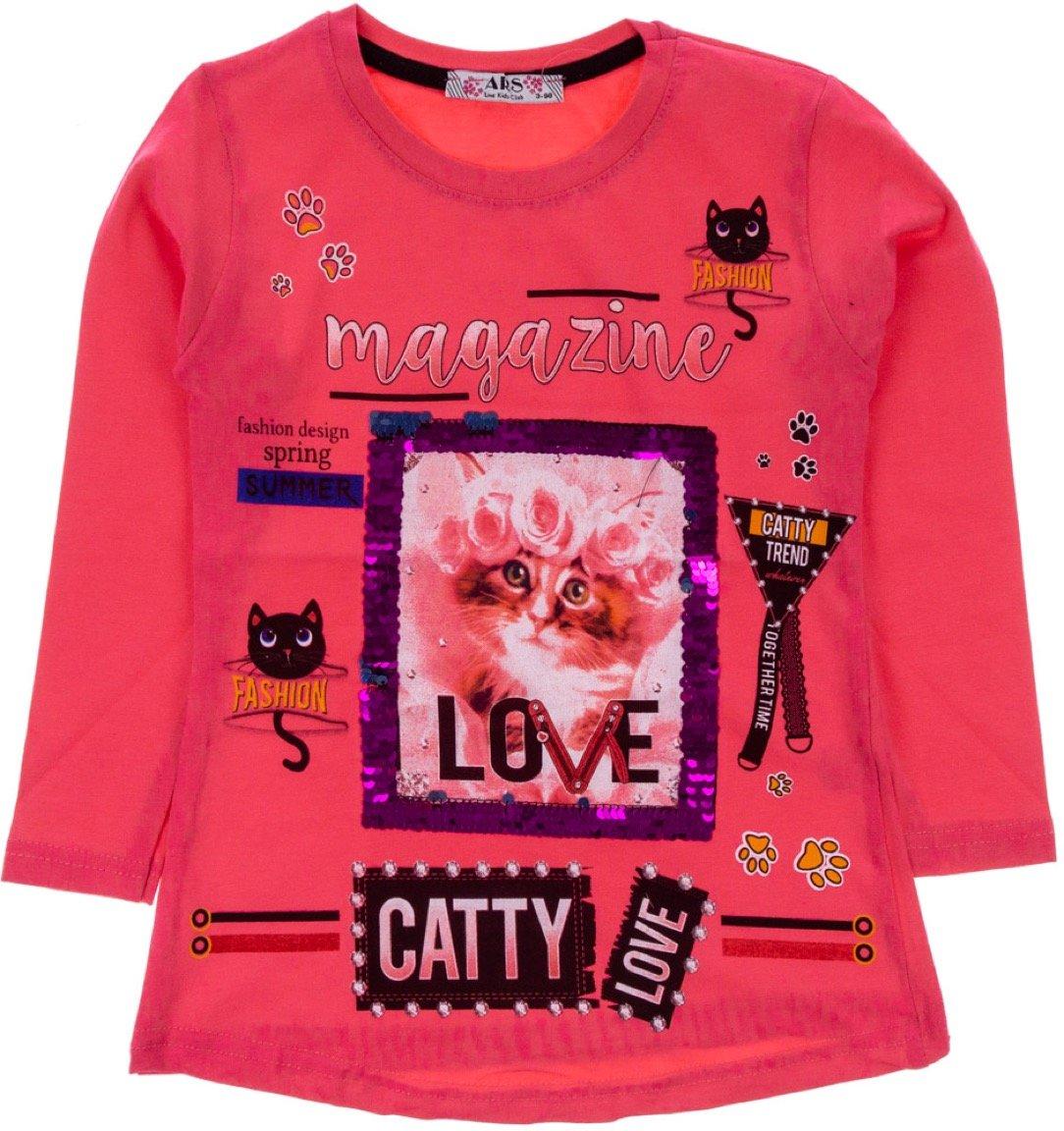 ARS παιδική εποχιακή μπλούζα «Catty Love»