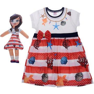 Pink Girl παιδικό φόρεμα   δώρο κούκλα