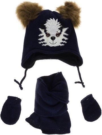 Kitti βρεφικό πλεκτό σετ σκουφί-κασκόλ-γάντια «Smart» - Παιδικά ρούχα 142e4587ea4