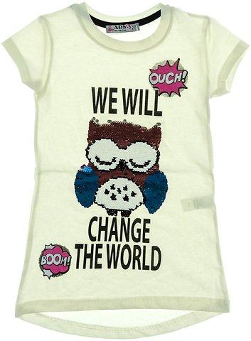 60c665dd1533 ARS παιδική μπλούζα «Will Change The World» - b2b.AZshop.gr