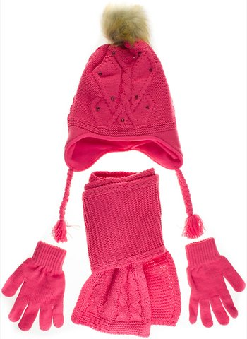 a99c0f48b7a Kitti πλεκτό χειμερινό σετ σκουφί-κασκόλ-γάντια «Coral Winter» - Παιδικά  ρούχα, βρεφικά ενδύματα, λευκά είδη για παιδιά AZshop.gr