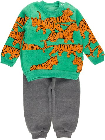 6a20cc867f5 Ramcocuk παιδικό σετ φόρμα μπλούζα παντελόνι «Green Lions» - b2b.AZshop.gr
