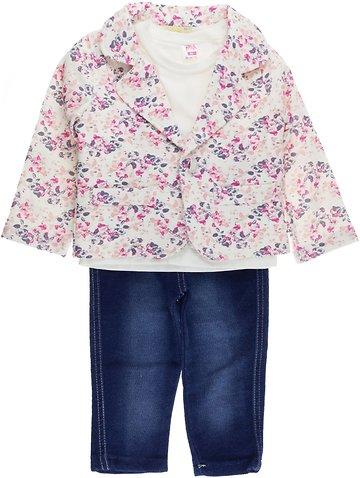 Pink Girl παιδικό σετ ζακέτα-μπλούζα-παντελόνι «Flowery» - b2b.AZshop.gr bbdfe3054d8