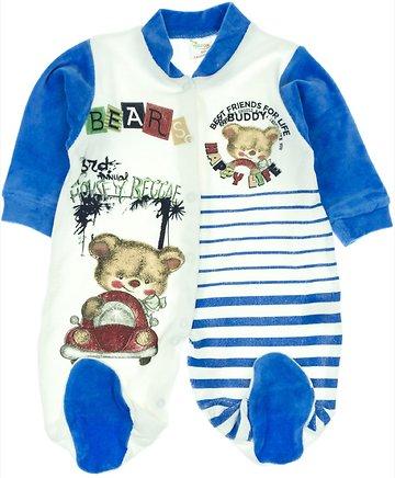 Yusuf Cuk βρεφικό βελουτέ φορμάκι «Buddy» - Παιδικά ρούχα 51b8379aab8