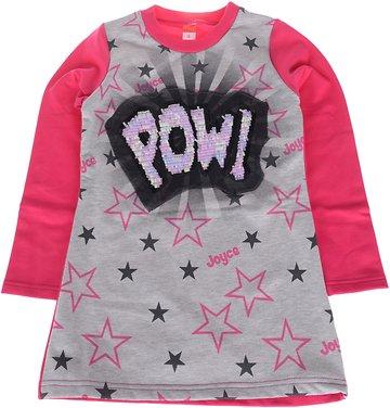 Joyce παιδική μπλούζα μακριά «Pink Pow Stars» - Παιδικά ρούχα ... cc5ba81e168