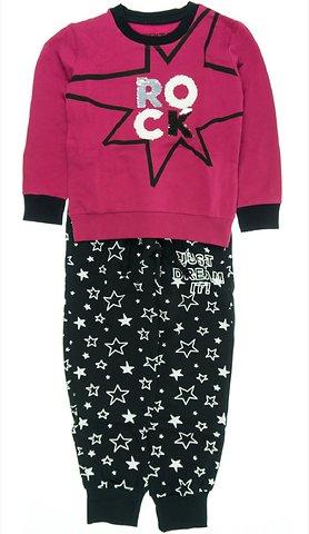 Εβίτα παιδικό σετ φόρμα μπλούζα-παντελόνι «Fuchsia Rock» - Παιδικά ρούχα 99c71caede0