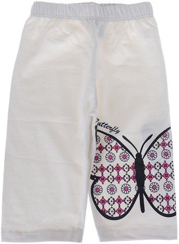 Gokmete παιδικό παντελόνι κολάν κάπρι «Ecru Butterfly» - Παιδικά ρούχα 7ec7298372e