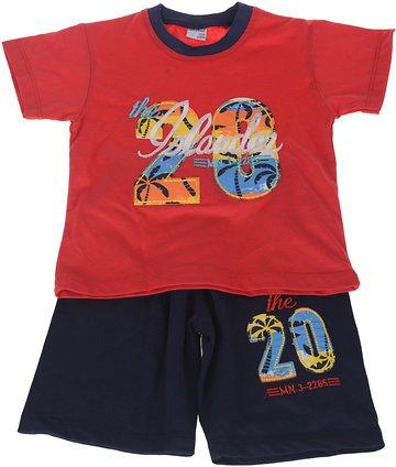 Minice παιδικό σετ μπλούζα-παντελόνι βερμούδα «Red Islander» - Παιδικά ρούχα 3d4446730a0