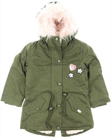 Εβίτα παιδικό μπουφάν παρκά «Pink Heart» - Παιδικά ρούχα e8058452f64