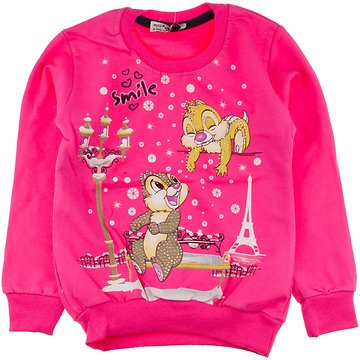 Mix Star παιδική μπλούζα φούτερ «Pink Smile» - Παιδικά ρούχα ... 03a135cc6db