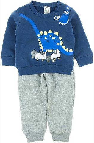 Go Jo παιδικό σετ φόρμα μπλούζα-παντελόνι «Blue Dino» - Παιδικά ρούχα 1beb684e425