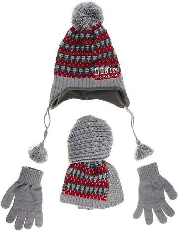Kitti πλεκτό σετ σκουφί-κασκόλ-γάντια «Grey Rebel» - Παιδικά ρούχα ... 3f6b5ba4a5c