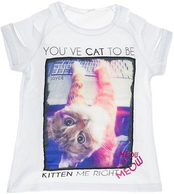 Joyce παιδική μπλούζα «White Kitten» - Παιδικά ρούχα 3465a2869b9
