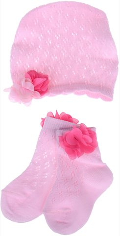 Yumese σετ δώρου βρεφικές κάλτσες και σκουφί «Aptitude» - Παιδικά ρούχα c516685e803