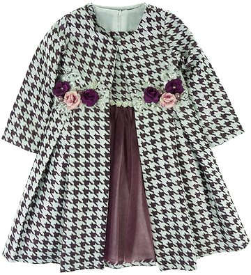 Seker παιδικό αμπιγιέ φόρεμα και μαντό «Purple Layers» - Παιδικά ρούχα 3974275d603
