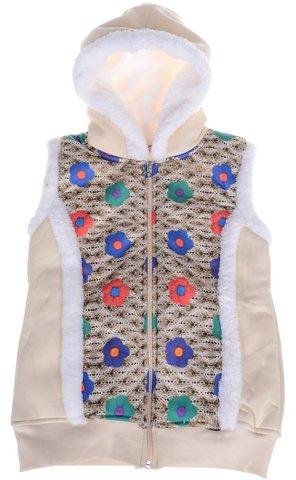 Walenti παιδικό αμάνικο μπουφάν με γούνα «Ecru World» - Παιδικά ρούχα e9d700bc80a