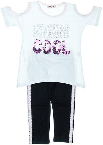 6d68bf385d1a Εβίτα παιδικό σετ μπλούζα-παντελόνι κολάν κάπρι «Stay Cool» - Παιδικά  ρούχα